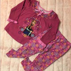 Disney Anna Long Sleeve Top and Pants Pajama Set